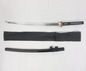 Warriors Demise Katana in 1060 Clay Tempered Folded Steel.